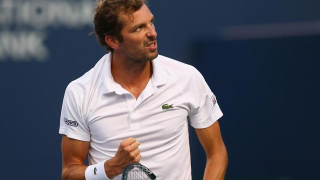 Julien Benneteau le 7 août lors du tournoi de Toronto 2014  [Ronald Martinez / GETTY IMAGES NORTH AMERICA/AFP]