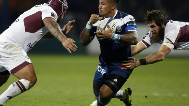 L'ailier de Castres David Smith (c) face à Bordeaux-Bègles, le 30 janvier 2016 au stade Pierre-Antoine [RAYMOND ROIG / AFP/Archives]
