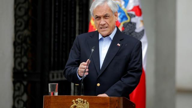 Le président chilien Sebastian Pinera le 26 octobre 2019 à Santiago du Chili   [Pedro Lopez / AFP/Archives]