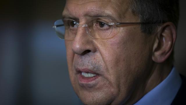 Le ministre russe des Affaires étrangères Sergueï Lavrov lors d'une conférence de presse le 23 octobre 2015 à Vienne [CARLO ALLEGRI / POOL/AFP]