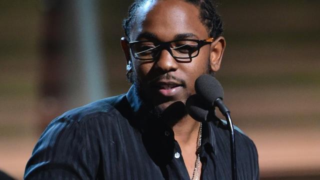 Le rappeur américain Kendrick Lamar le 15 février 2016 lors de la cérémonie des Grammys à Los Angeles [ROBYN BECK / AFP]