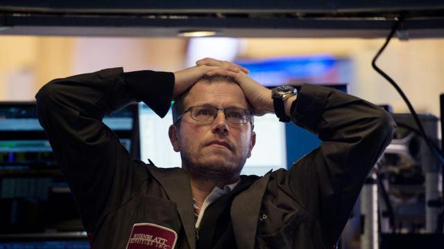 Traders à la cloture sur le New York Stock Exchange le 5 février 2018  [Bryan R. Smith / AFP]