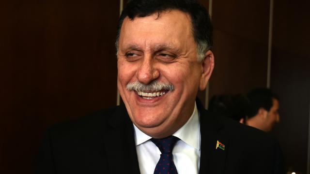 Le Premier ministre libyen Fayez al-Sarraj, le 8 janvier 2016 à Tunis [FETHI BELAID / AFP/Archives]
