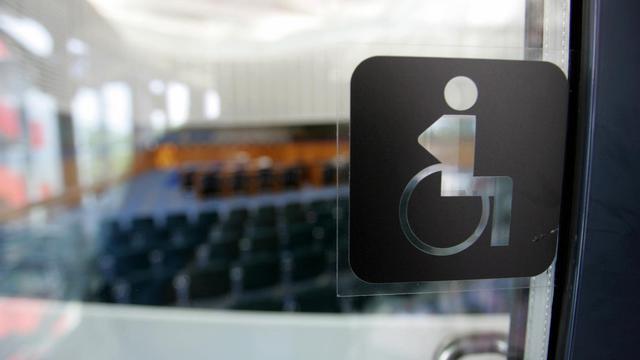 Pictogramme représentant un handicapé  [Olivier Morin / AFP/Archives]