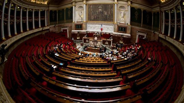 L'hémicycle de l'Assemblée nationale, le 7 octobre 2013 à Paris [Joël SAGET / AFP/Archives]