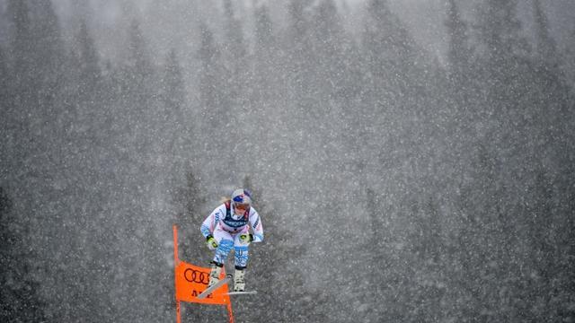 L'Américaine Lindsey Vonn lors de la descente du combiné, le 8 février 2019 aux Mondiaux d'Are, Suède [François-Xavier MARIT / AFP]