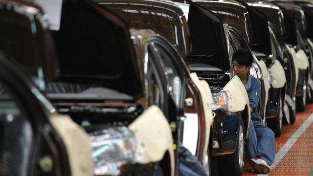 Une usine automobile à Cixi en Chine, le 21 juin 2012 [Peter Parks / AFP/Archives]
