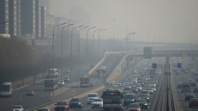 Forte pollution à Pékin, le 21 décembre 2015  [WANG ZHAO / AFP/Archives]