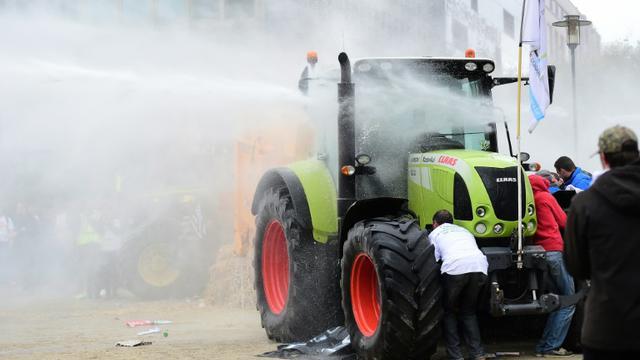 Manifestation d'agriculteurs à Bruxelles, le 7 septembre 2015 [emmanuel Dunand / AFP]