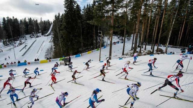 """La police autrichienne a démantelé avec ses homologues allemands un présumé """"réseau international de dopage"""" en marge des Mondiaux de ski nordique à Seefeld [Jonathan NACKSTRAND / AFP/Archives]"""
