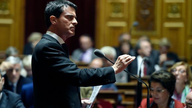 Manuel Valls défend l'état d'urgence au Sénat le 20 novembre 2015 [ALAIN JOCARD / AFP/Archives]