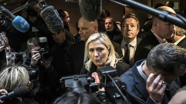 Marine Le Pen le 20 octobre 2015 à Lyon [JEAN-PHILIPPE KSIAZEK / AFP/Archives]