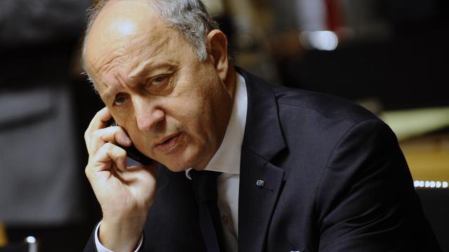 Le ministre français des Affaires étrangères Laurent Fabius, le 23 juin 2014, lors d'une réunion à Luxembourg [John Thys / AFP/Archives]