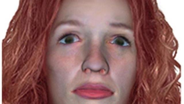 Photo fournie le 9 novembre 2017 par la Gendarmerie nationale montrant une reconstruction du visage d'une femme retrouvée défigurée le 15 décembre 2016 au Frasnois [Handout / GENDARMERIE NATIONALE/AFP]