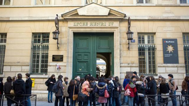 Le lycée Henri IV, visé par des appels menaçants, le 16 février 2016 à Paris [LOIC VENANCE / AFP/Archives]