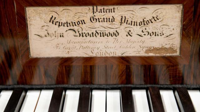 L'un des pianos anciens mis à disposition d'une trentaine de pianistes pour le concours Chopin sur pianos d'époque, le 4 septembre 2018 à Varsovie [JANEK SKARZYNSKI / AFP/Archives]