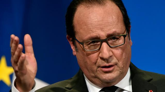 Le président François Hollande, le 16 janvier 2016 à Tulle, en Corrèze [GEORGES GOBET / AFP/Archives]