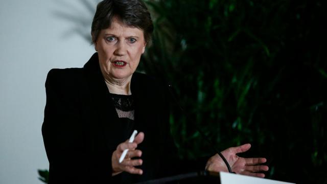 Helen Clark lors d'une conférence de presse le 4 avril 2016 à New York [KENA BETANCUR / AFP]