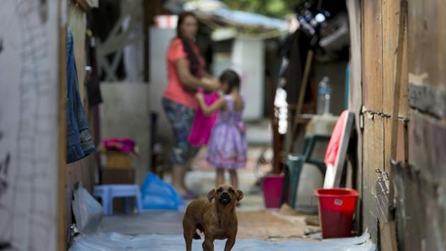 Le bidonville rom de La Courneuve, au nord de Paris, le 14 août 2015 [KENZO TRIBOUILLARD / AFP]