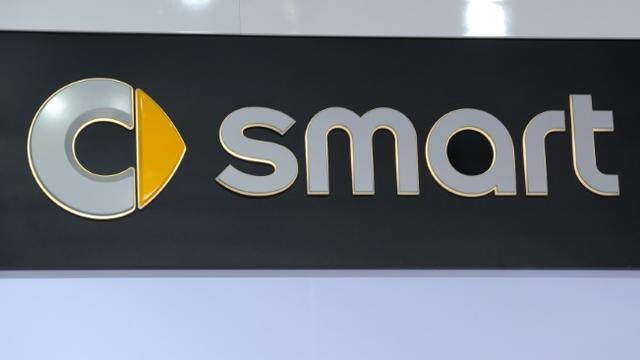 Logo de Smart, à Détroit, le 15 janvier 2013 [Stan Honda / AFP/Archives]