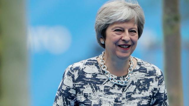 La Première ministre britannique Theresa May lors de la deuxième journée du sommet de l'OTAN à Bruxelles, le 12 juillet 2018 [Tatyana ZENKOVICH / POOL/AFP]