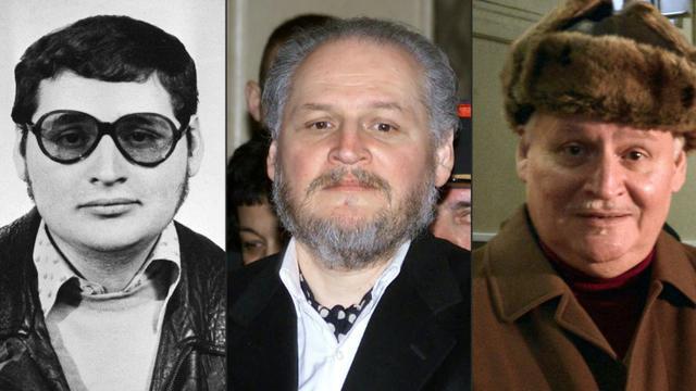 Montage de trois photos datant des années 70, de 2001 et de 2013 d'Ilich Ramirez Sanchez, dit Carlos, jugé en appel à partir de lundi pour l'attentat du Drugstore Publicis en 1974 à Paris [STAFF, JACK GUEZ, Bertrand GUAY / AFP/Archives]