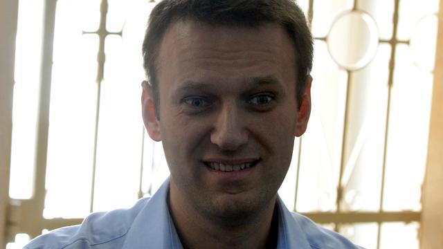 Alexeï Navalny au tribunal le 24 avril 2014 à Moscou [Vasily Maximov / AFP]