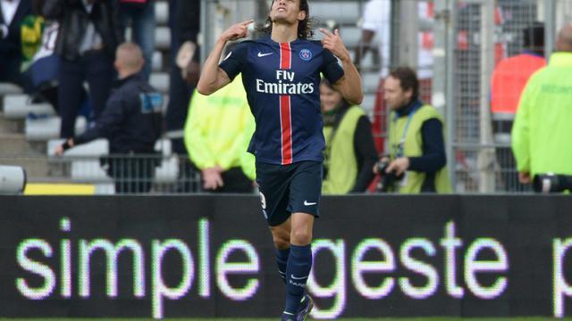 L'attaquant du PSG Edinson Cavani buteur contre Nantes à La Beaujoire, le 26 septembre 2015 [JEAN-SEBASTIEN EVRARD / AFP]