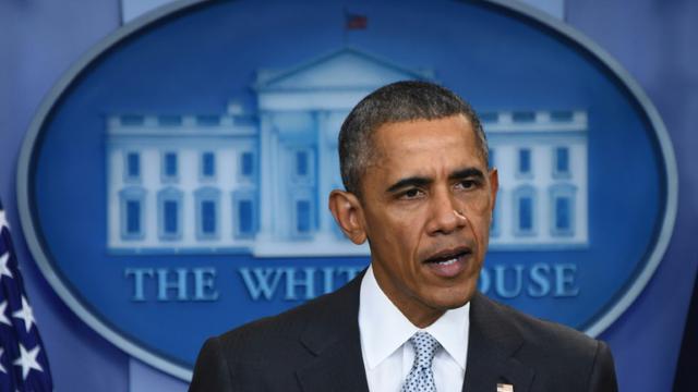 Le président Barack Obama lors d'une déclaration sur les attentats de Paris le 13 novembre 2015 à la Maison Blanche à Washington [JIM WATSON / AFP]