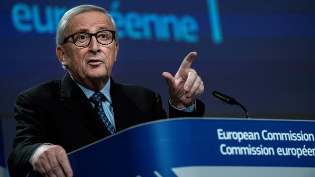 Le Luxembourgeois Jean-Claude Juncker lors de sa dernière conférence de presse au siège de la Commission européenne à Bruxelles, le 29 novembre 2019 [Kenzo TRIBOUILLARD / AFP]