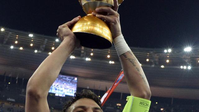 Le trophée de la Coupe de la Ligue [Franck Fife / AFP/Archives]
