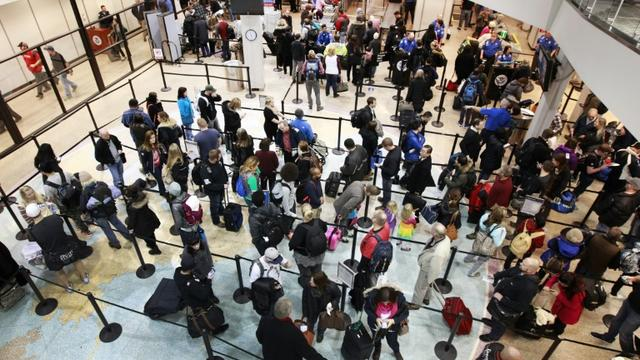 L'aéroport international de Salt Lake City, le 14 décembre 2015 [GEORGE FREY / GETTY IMAGES NORTH AMERICA/AFP]