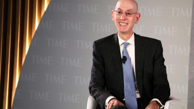 Le président de la NBA, Adam Silver lors d'un congrès sur la Santé organisé par le magazine Time, le 17 octobre à New York [Brian Ach / GETTY IMAGES NORTH AMERICA/AFP]