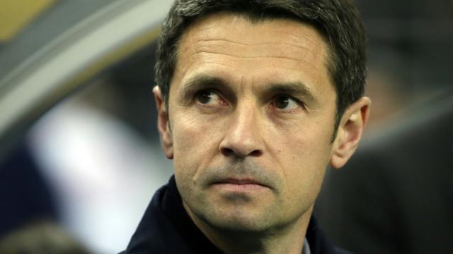 L'entraîneur Rémi Garde, alors à la tête de Lyon, le 19 avril 2014 lors de la finale de la Coupe de Ligue au Stade de France [Kenzo Tribouillard / AFP]
