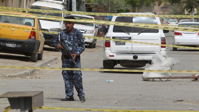 Un policier irakien à Bagdad, le 12 avril 2013 [Ahmad al-Rubaye / AFP/Archives]