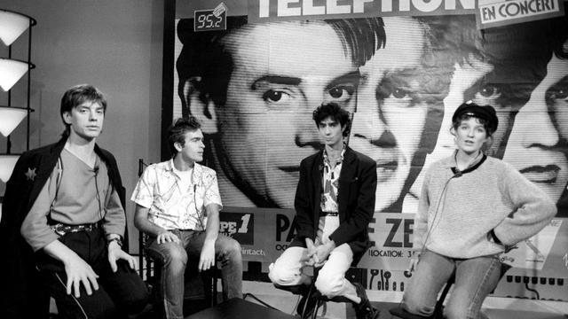 Photo prise le 8 octobre 1998 des membres du groupe Téléphone [Georges Bendrihem / AFP/Archives]