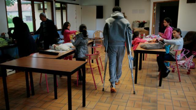Un centre accueillant des migrants et réfugiés à Cergy le 16 septembre 2015 [JACQUES DEMARTHON / AFP/Archives]