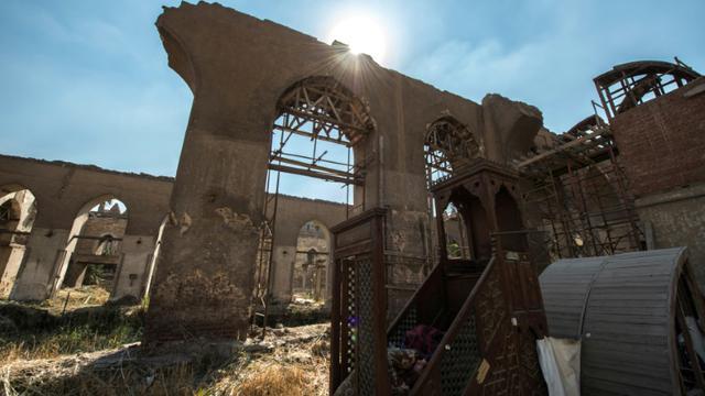 Une partie de la mosquée de Baybars au Caire, le 16 octobre 2018 [KHALED DESOUKI / AFP]
