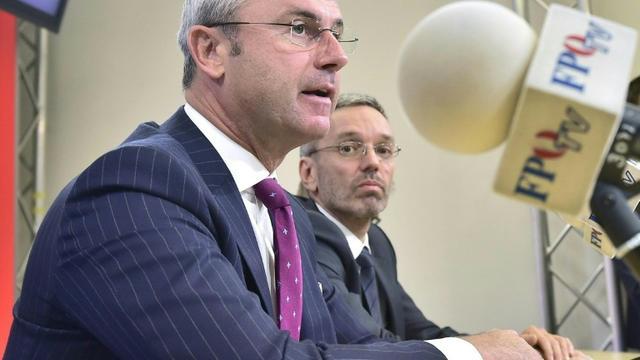 Norbert Hofer, ministre des Transports et nouveau chef désigné du FPO autrichien lors d'une conférence de presse à Vienne le 20 mai 2019 [HANS PUNZ / APA/AFP]