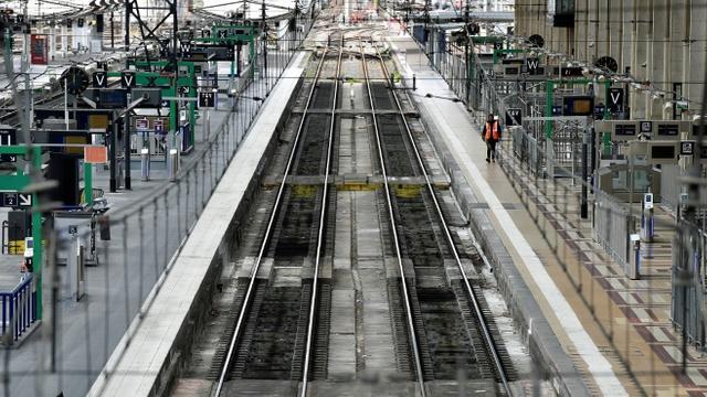 Quais vides de la gare Saint-Jean pendant une grève, à Bordeaux, le 3 avril 2018 [GEORGES GOBET / AFP/Archives]