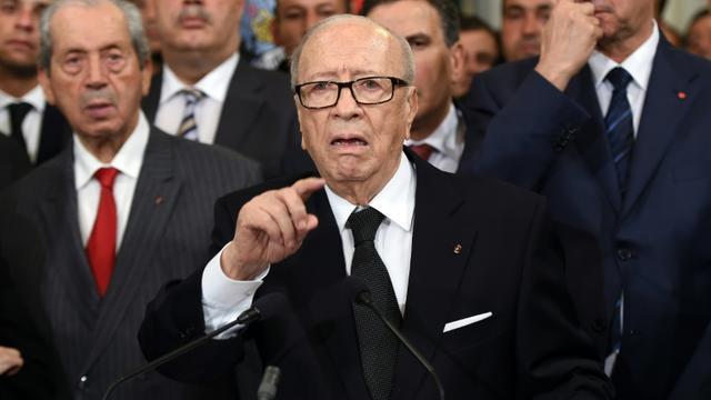 Le président tunisien Beji Caid Essebsi, le 25 novembre 2015 à Tunis [FETHI BELAID / AFP/Archives]