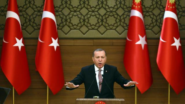 Le président turc Tayyip Erdogan à Ankara le 10 février 2016 [ADEM ALTAN / AFP/Archives]
