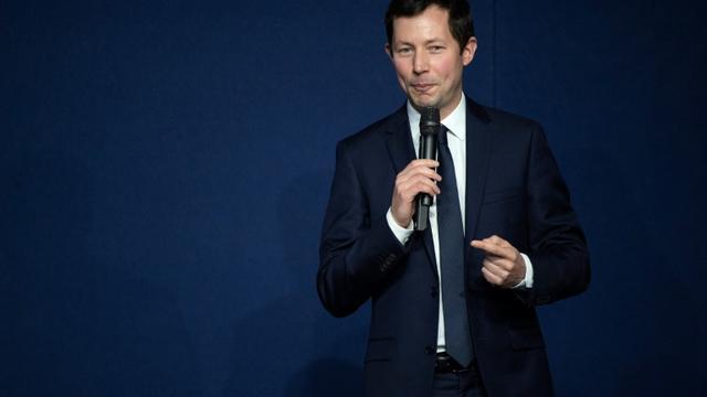 Francois-Xavier Bellamy, tête de liste LR pour les Européennes tient un discours le 16 mars 2019 à Lyon [ROMAIN LAFABREGUE / AFP]