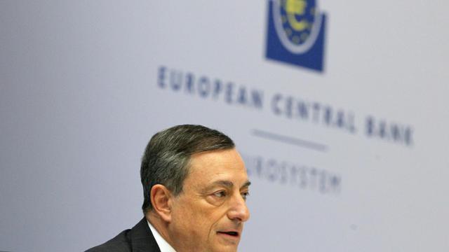 Mario Draghi, président de la BCE, à Francfort le 3 décembre 2015, lors d'une conférence de presse [DANIEL ROLAND / AFP]