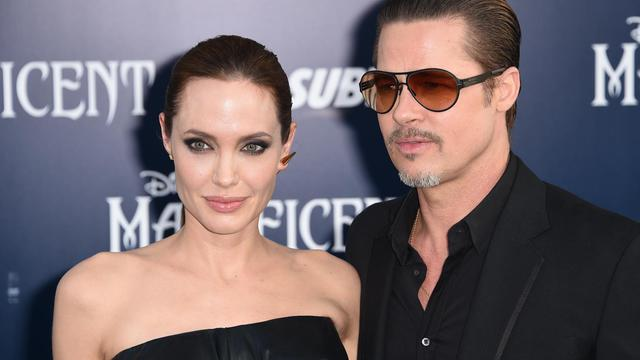 Angelina Jolie et Brad Pitt le 28 mai 2014 à Hollywood [Robyn Beck / AFP/Archives]