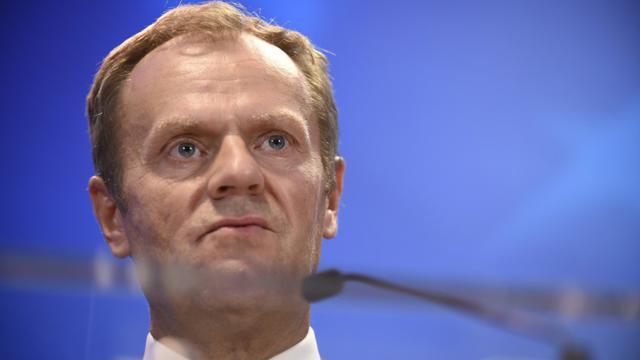 Le président du Conseil européen Donald Tusk le 23 septembre à Bruxelles [JOHN THYS / AFP]