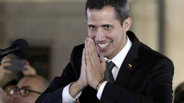 L'opposant et président du Venezuela autoproclamé Juan Guaido, le 1er mars 2019 à Buenos Aires [JUAN MABROMATA / AFP]