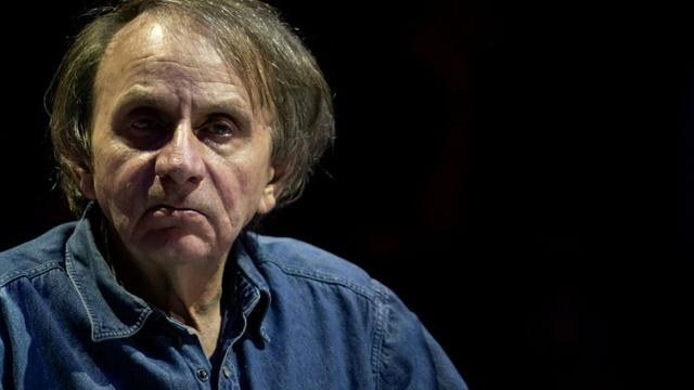Michel Houellebecq à Paris, en avril 2019 [Lionel BONAVENTURE / AFP/Archives]