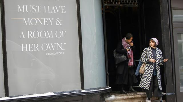 L'entrée d'un club privé pour femmes, le 28 février 2018 à Londres [TOLGA AKMEN / AFP]