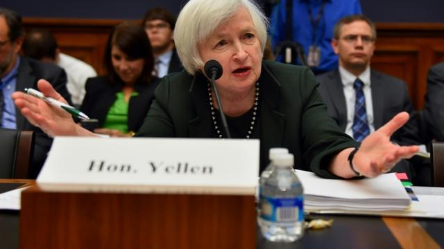 La présidente de la Réserve fédérale (Fed) Janet Yellen à Washington, le 16 juillet 2015 à Washington [Paul J. Richards / AFP/Archives]